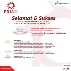 Pertamina EP Raih Platinum PR Indonesia Awards 2021