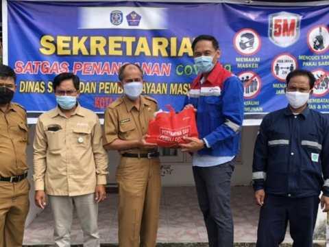 Bantu Penanganan Covid-19 di Bontang, Pertagas Salurkan Sembako dan Extra Fooding