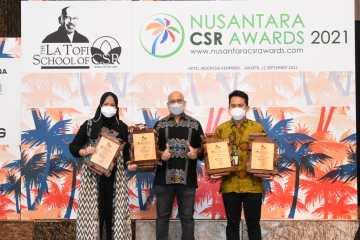 Memberi Dampak Positif, Pertagas Raih 4 Penghargaan Nusantara CSR Awards 2021