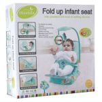 fold up infant seat green