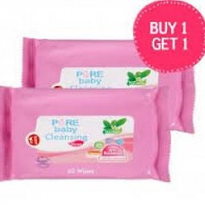 Pure Baby Wipes Cleansing (Buy 1 Get 1 Free)