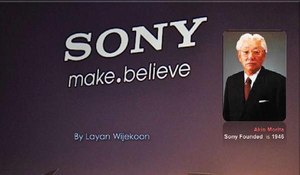 Kisah sukses perusahaan Sony