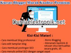 kursus blogger murah