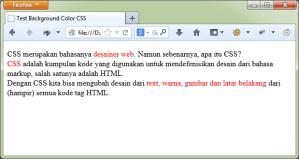 Contoh HTML dengan CSS