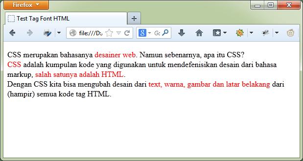 Contoh HTML tanpa CSS