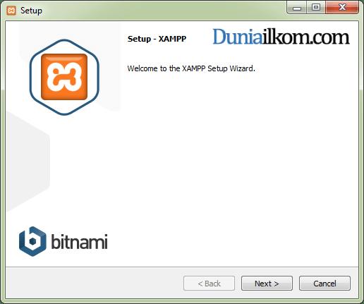 Cara Menginstall XAMPP di Windows - Jendela Awal Instalasi