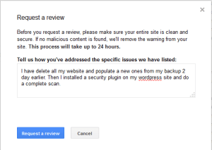 Request Review Google
