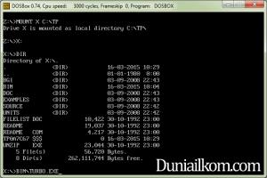 Cara Menjalankan Turbo Pascal 7 dari DOSBox