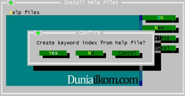Menambahkan File Help kedalam Free Pascal - Membuat index