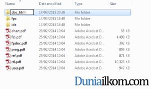 Mengubah nama folder help agar lebih informatif