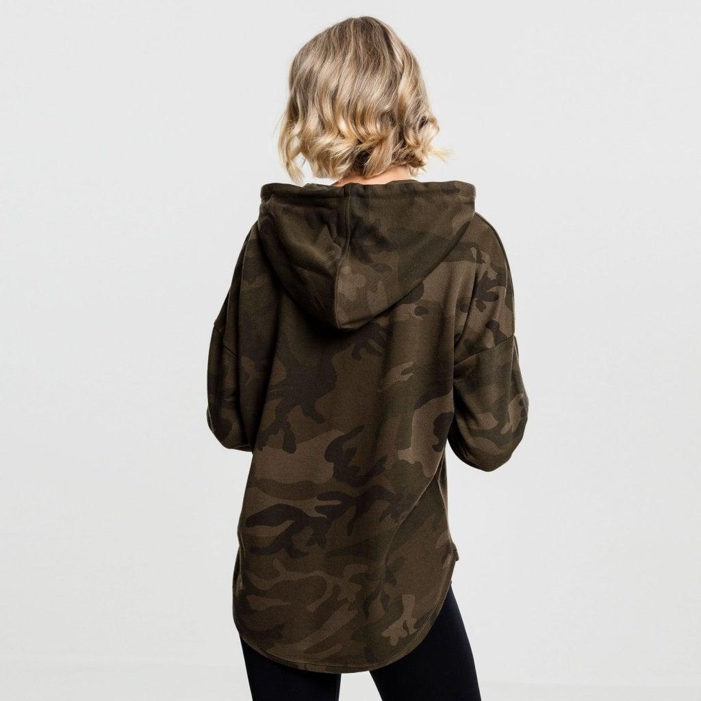 Oversized camo hoodie dam  Hoodies  Damklder  Dunkense