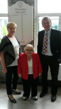 Nessa Heaney at the presentation of Pat Heaney Music Award with Gay McManus & Margaret Griffiths