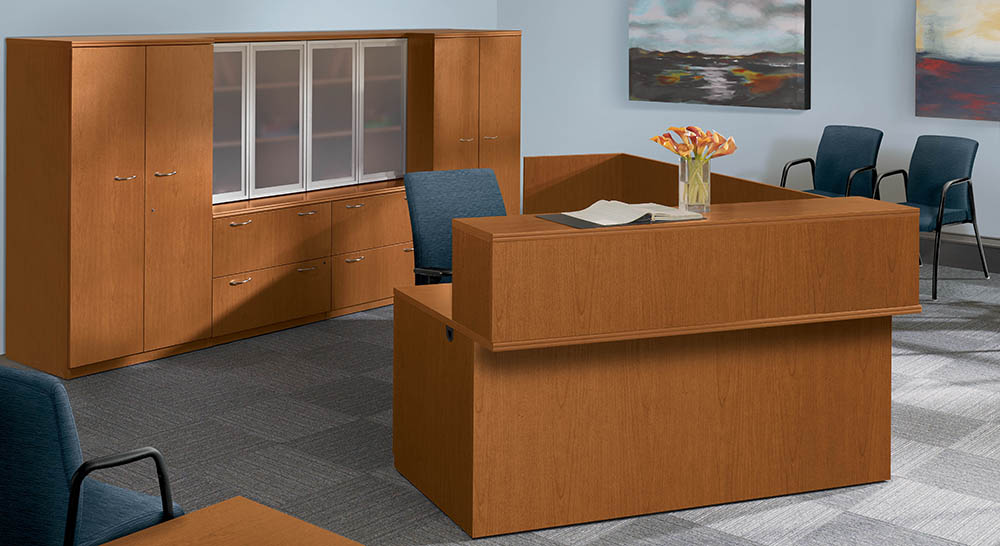 elevated reception desk