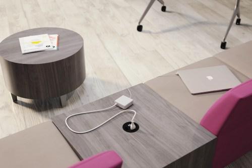 hidden office furniture plugs