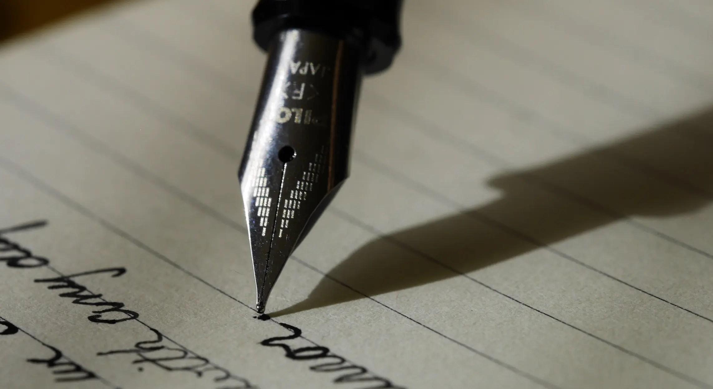 fountain pen handwriting styles