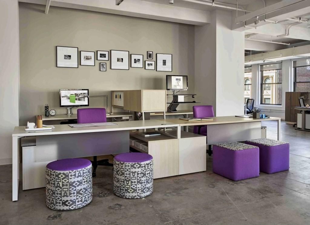 purple office furniture