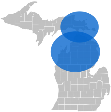 michigan copier service area map