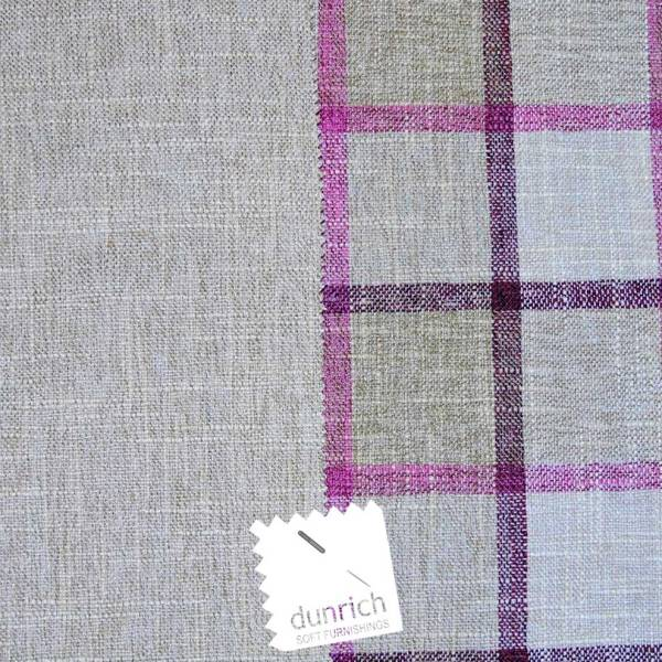 beige with pink check pattern fabric to order