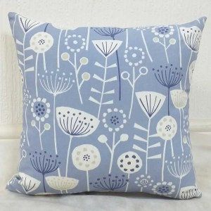 bergen blue white patterned scatter cushions