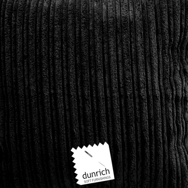black chunky cord cut fabric to order