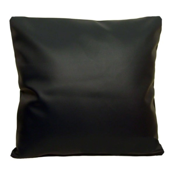 black faux leather scatter cushion covers