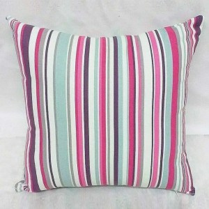 bright pink cotton striped goa scatter cushion