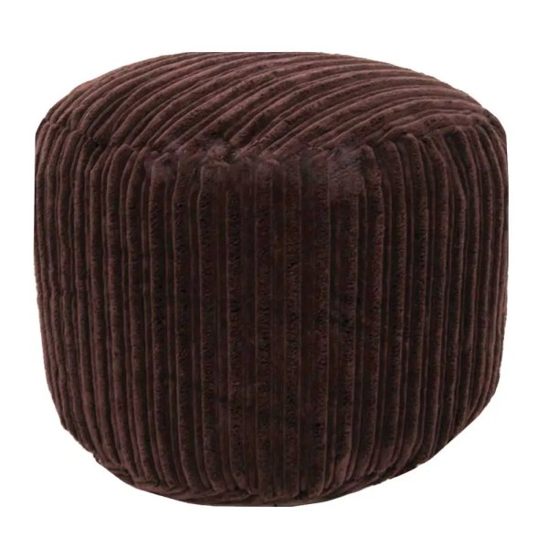 brown chunky cord pouffe footstool