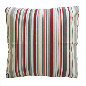 cherry red cotton striped goa scatter cushion