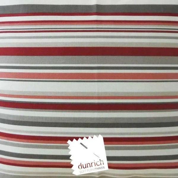 cherry red goa striped cotton fabric