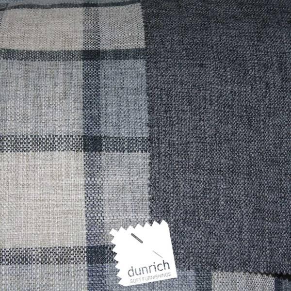 dark grey check pattern fabric to order