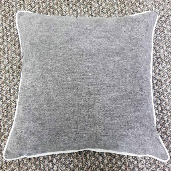 dark grey suede feel scatter cushion