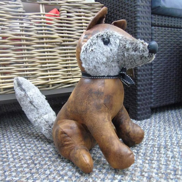 fox weighted animal doorstop