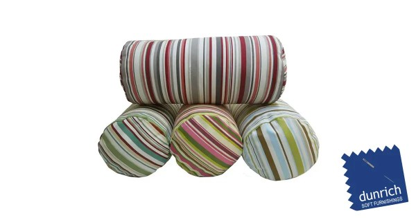 goa striped cotton bolster cylinder cushions fb