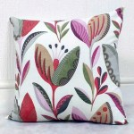 green multi tulip pattern scatter cushion cover