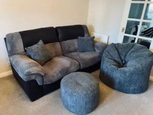 grey sofa cushions beanbag pouffe order