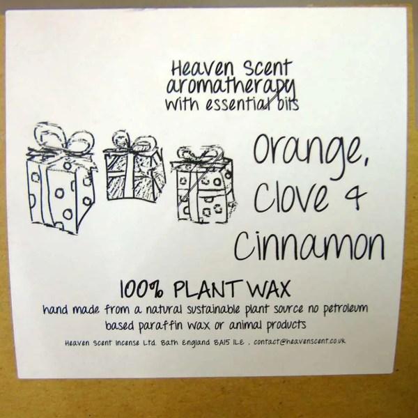 heaven scents orange clove cinnamon natural wax candles