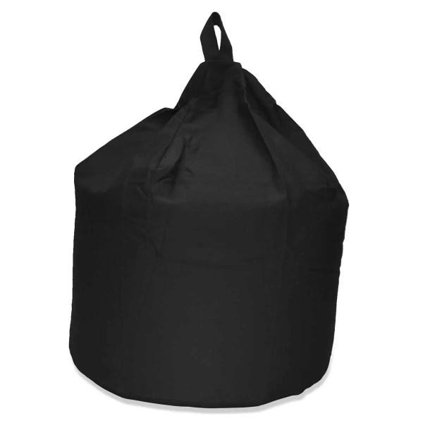 large black cotton drill beanbag