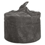 large grey chunky cord beanbag