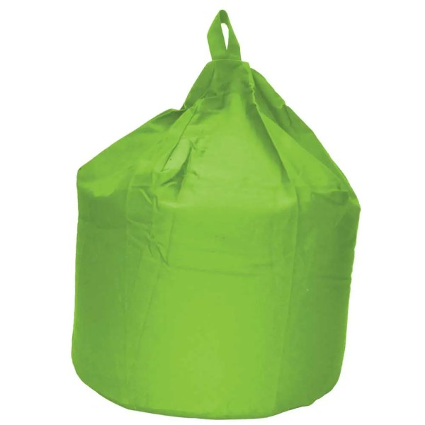 large lime green cotton drill beanbag