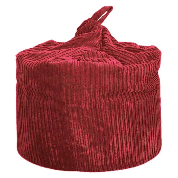 large red chunky cord beanbag