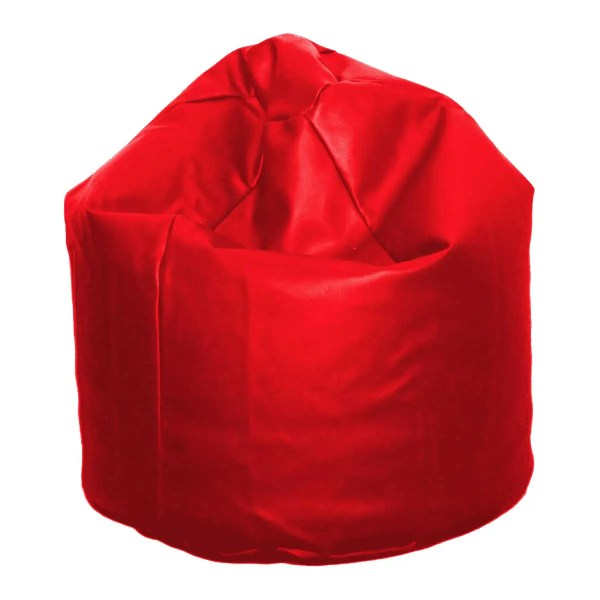 large red faux leather beanbag