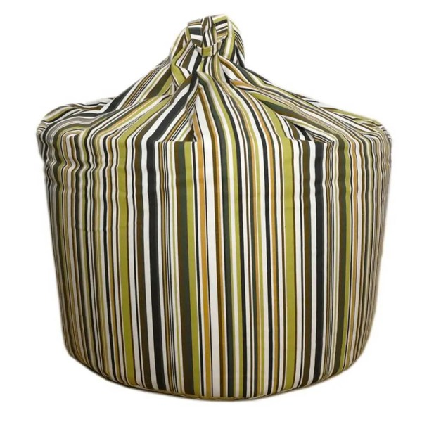 large sage green goa striped cotton beanbag