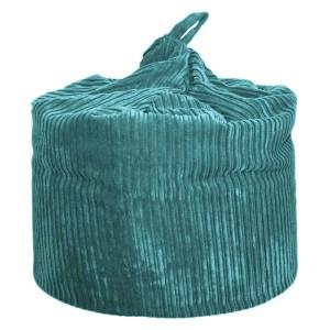 large teal chunky cord beanbag