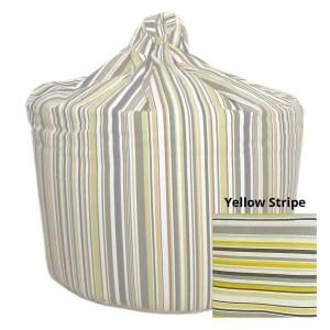 large yellow goa striped cotton beanbag