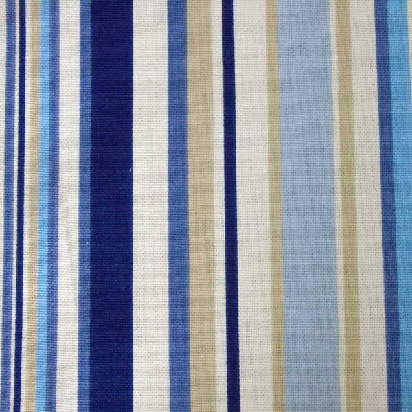 marine blue cotton striped goa scatter cushion