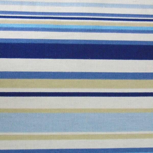 marine blue goa striped cotton fabric