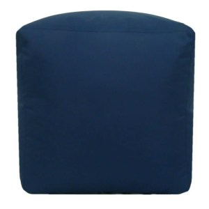 navy blue water resistant cubes footstools