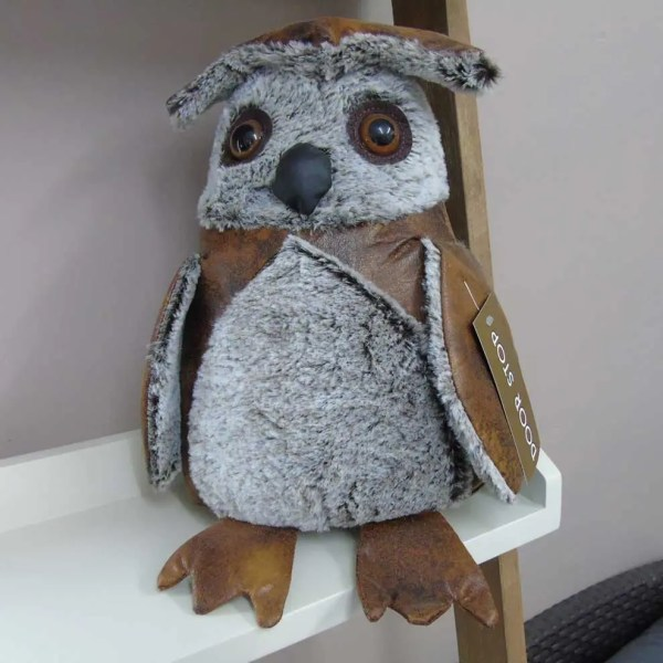 owl weighted animal doorstop