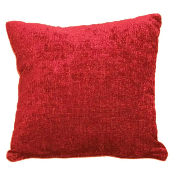 red chenille scatter cushion