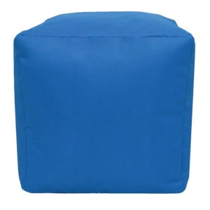 royal blue water resistant cubes footstools